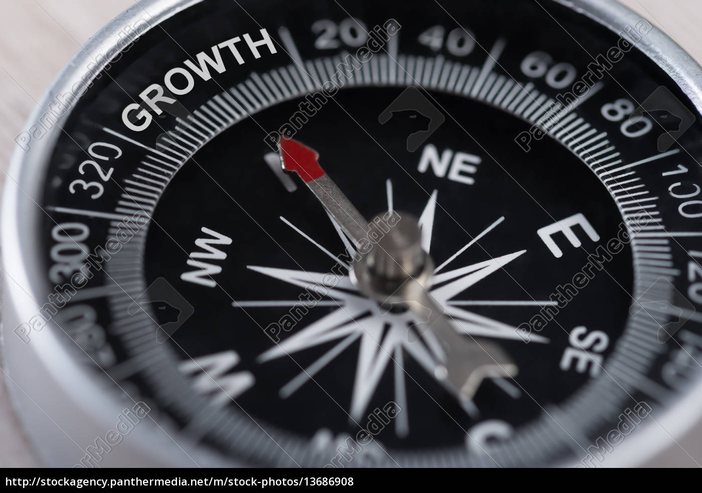 compass, indicating, growth - 13686908