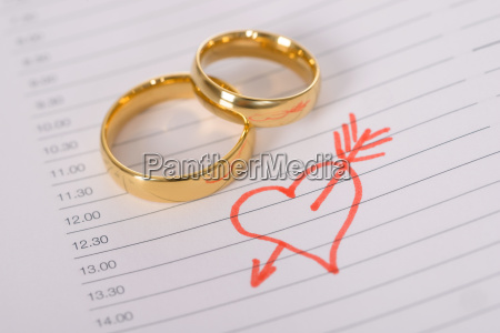 close up of wedding rings on