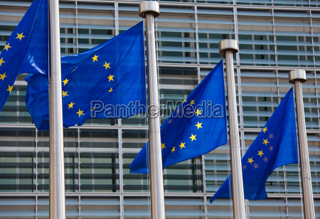 european flags in front of the