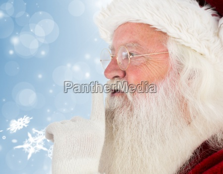 composite image of santa claus making