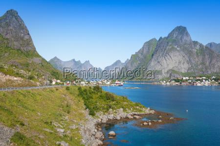 beautiful landscape of north norway scandinavia