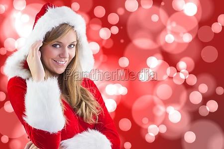 composite, image, of, festive, blonde, smiling - 13696670