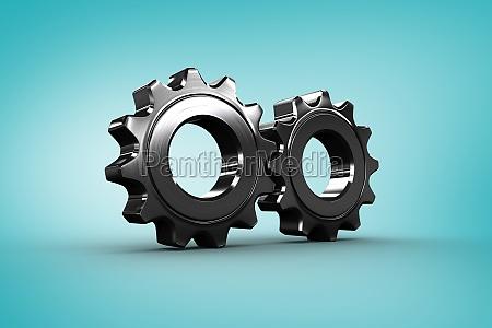 composite obraz metalowej cog i kolem