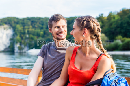 couple on boat on the danube