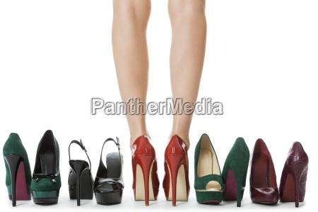 diverse couple high heels stilettos as