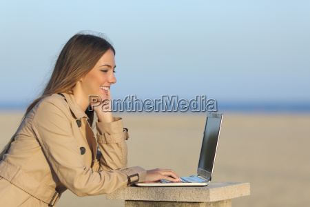 self employed woman working with a