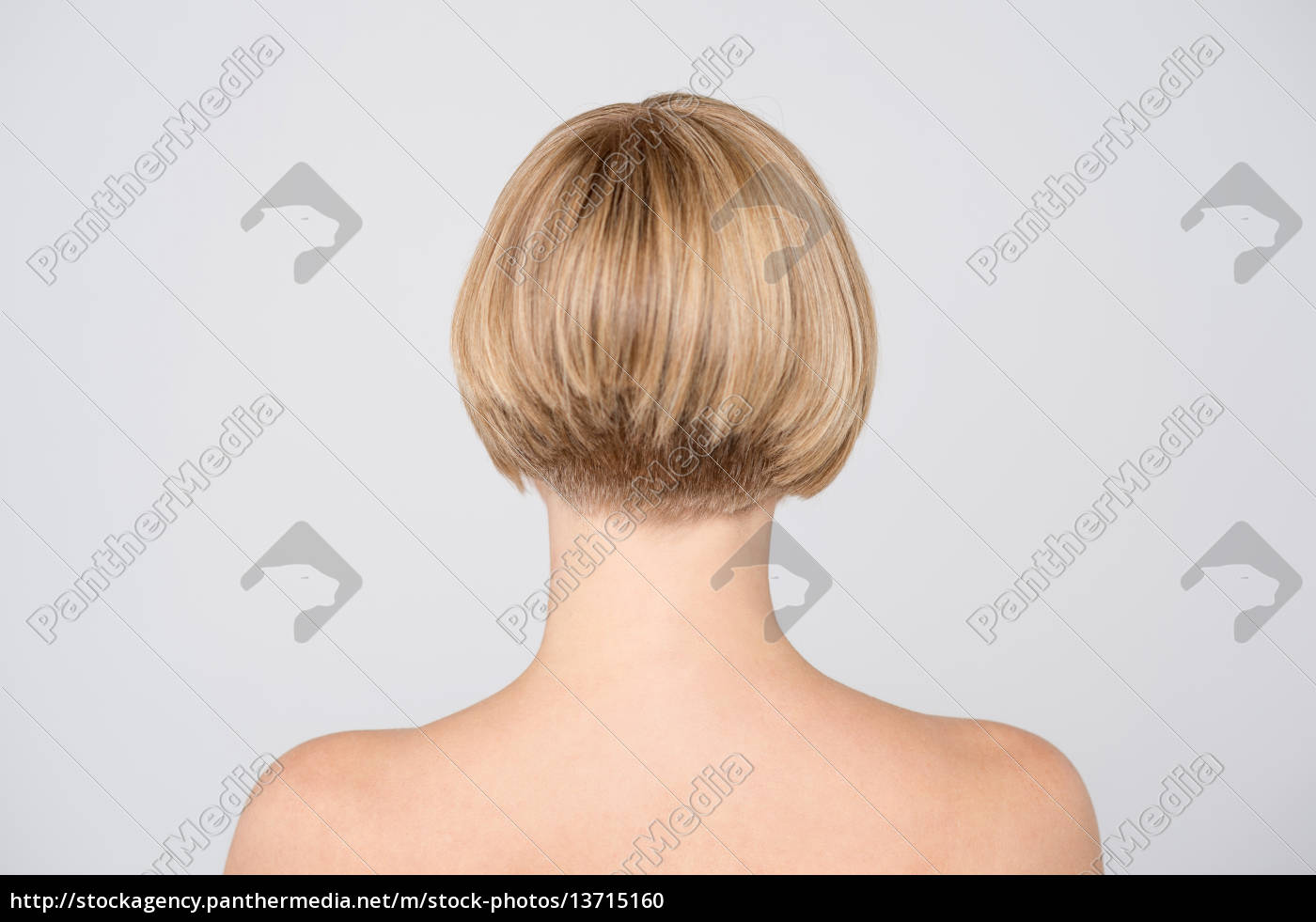 topless, woman, from, behind - 13715160