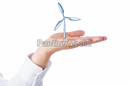 wind, turbine, rising, in, the, palm - 13715286