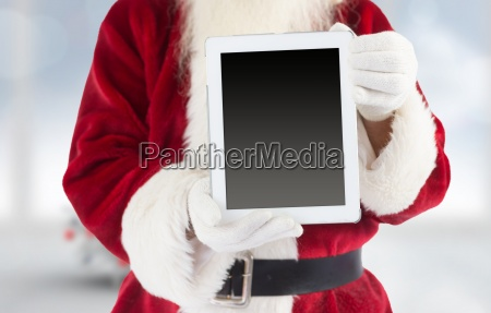 composite image of santa claus showing