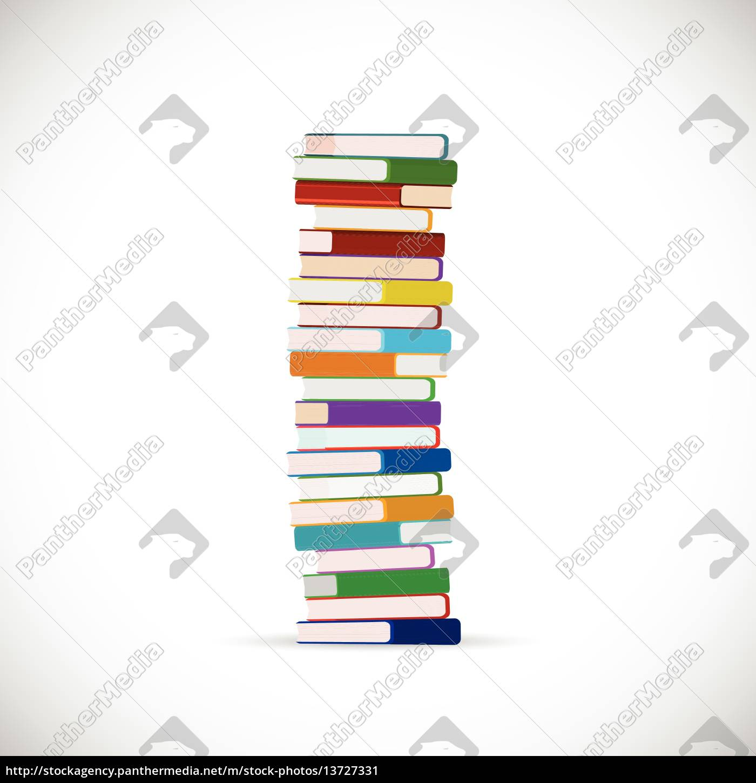 stack, of, books, illustration - 13727331