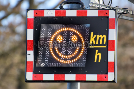 speed monitoring with smiley