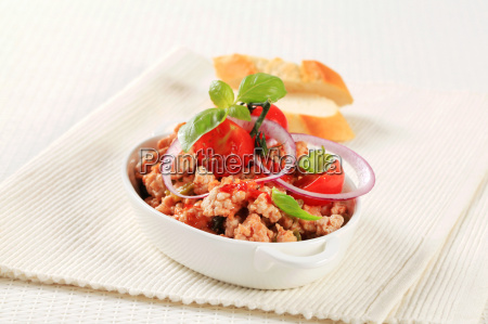 minced meat stir fry