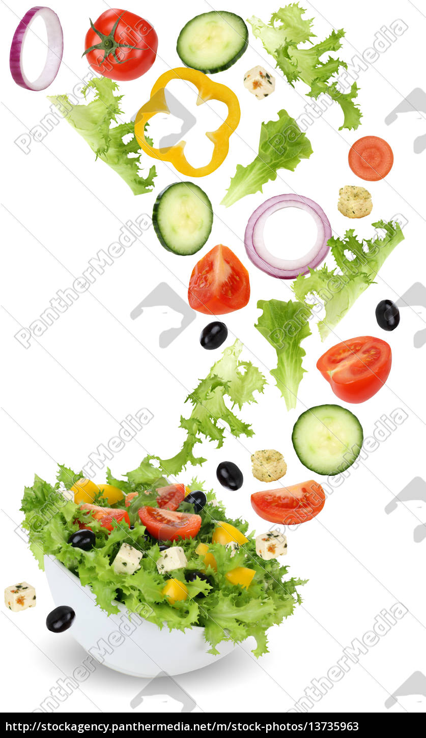 healthy, vegetarian, dining, salad, with, tomato, cucumber, onion - 13735963