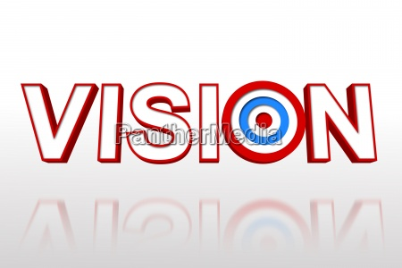 the word vision with target