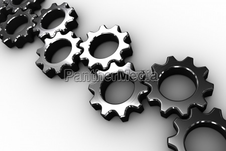 many chrome cogs and wheels