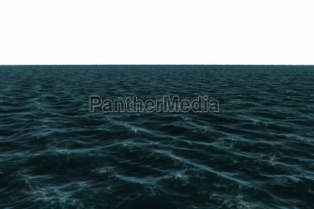 digitally generated dark blue ocean