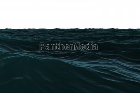 digitally generated dark blue rough sea