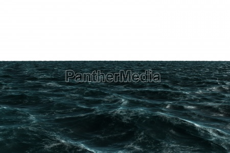 digitally generated rough blue ocean
