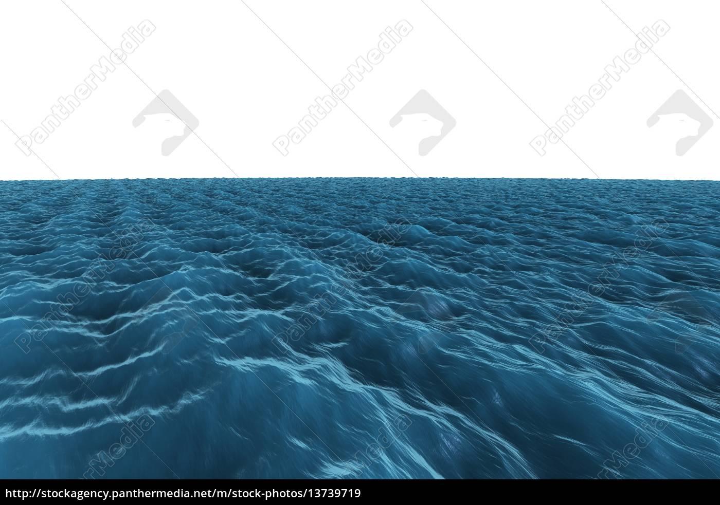 digitally, generated, graphic, rough, blue, ocean - 13739719
