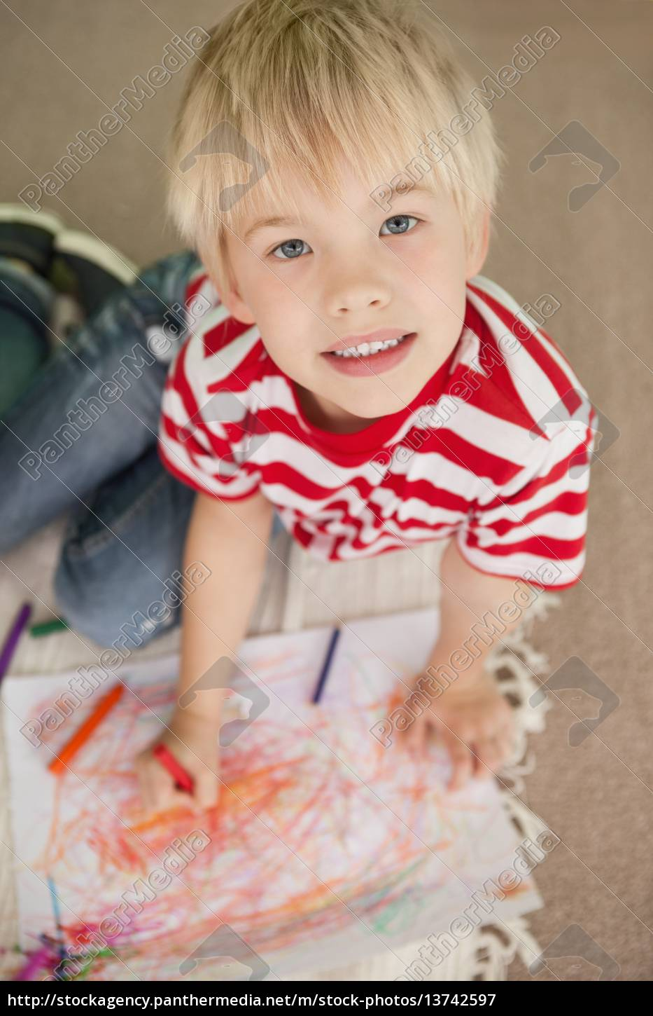 cute, little, schoolboy, smiling, at, camera - 13742597