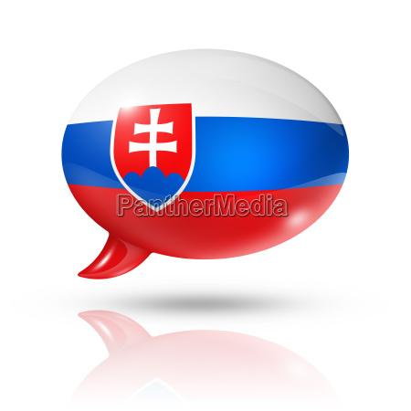 slovakian flag speech bubble