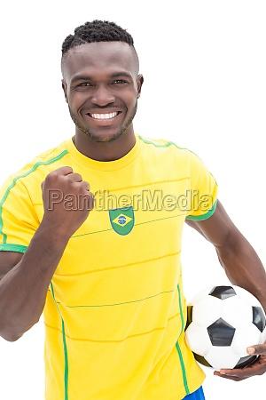 close up of brazilian football fan
