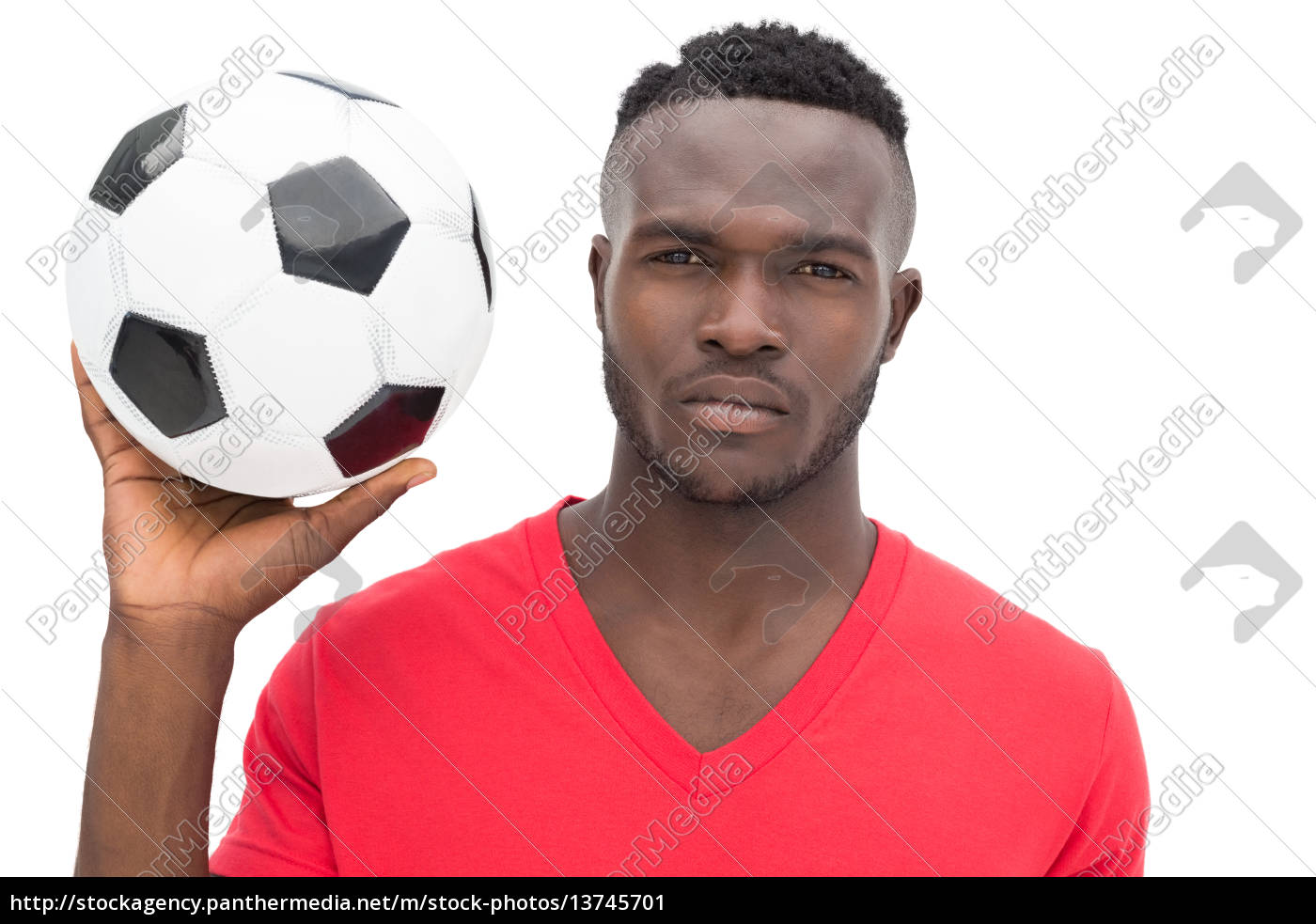 portrait, of, a, serious, handsome, football - 13745701