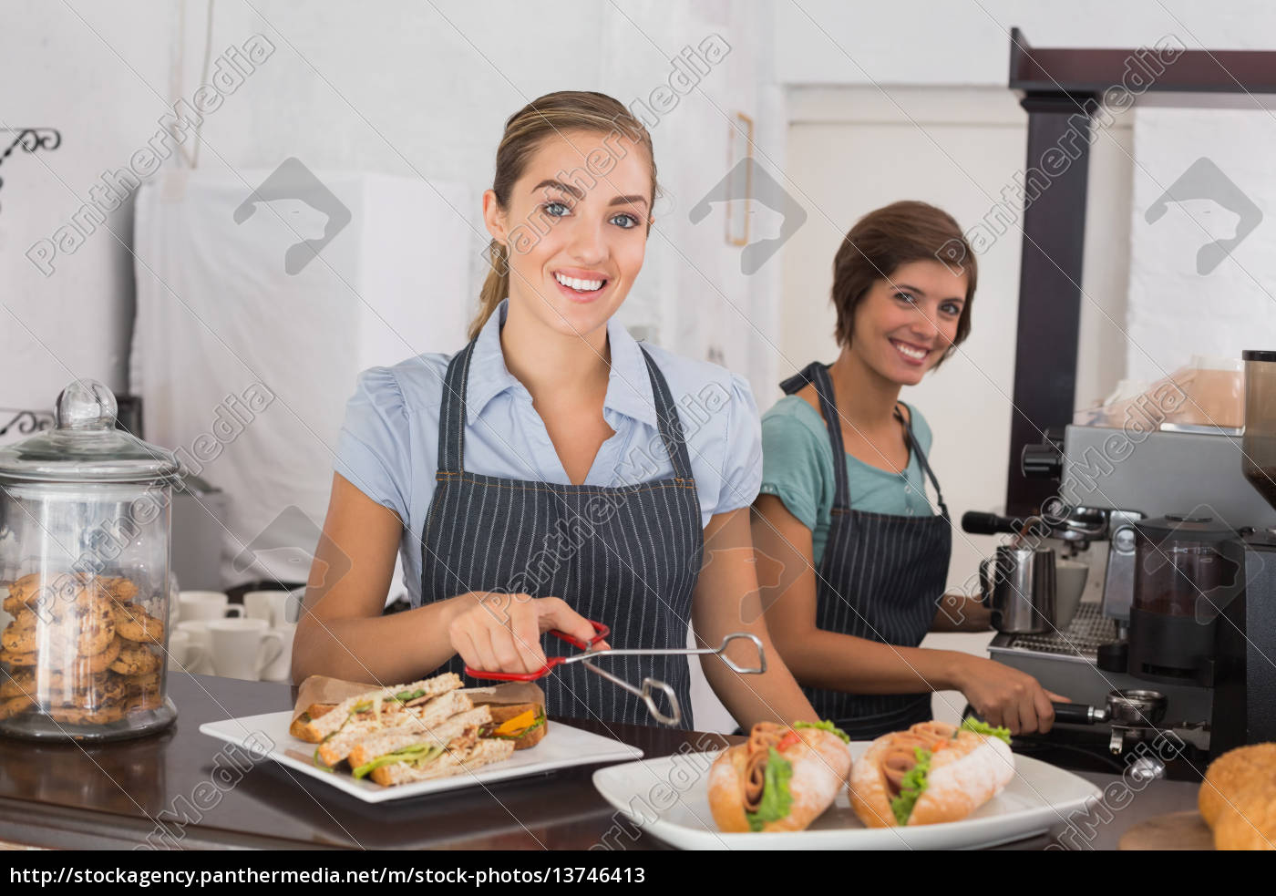pretty, waitresses, working, with, a, smile - 13746413