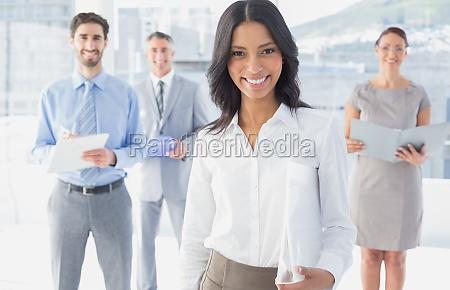 business woman holding a folder