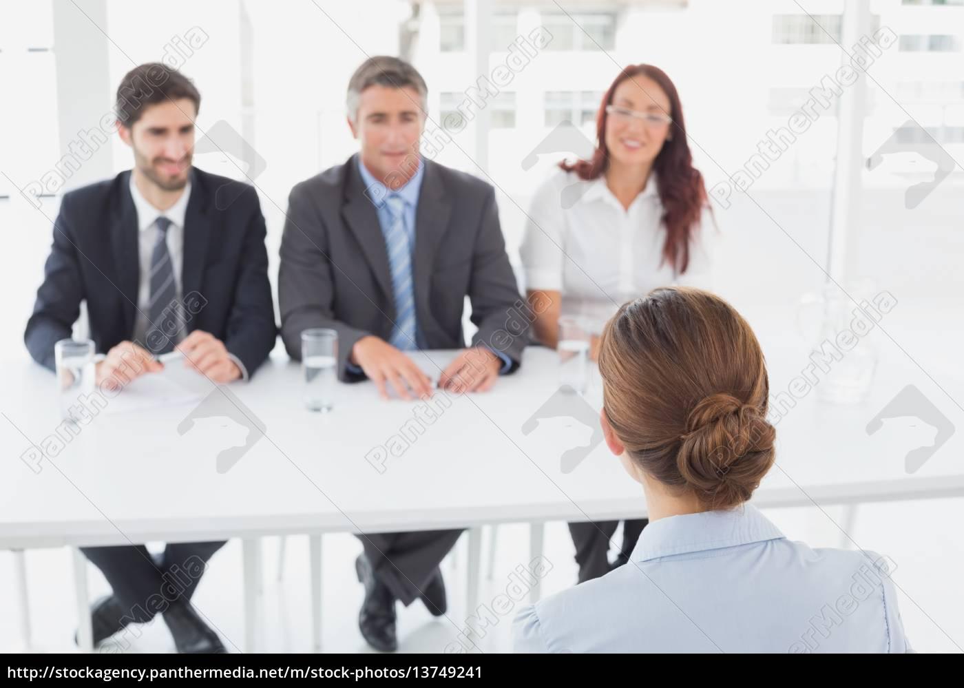 businesswoman, in, a, work, interview - 13749241