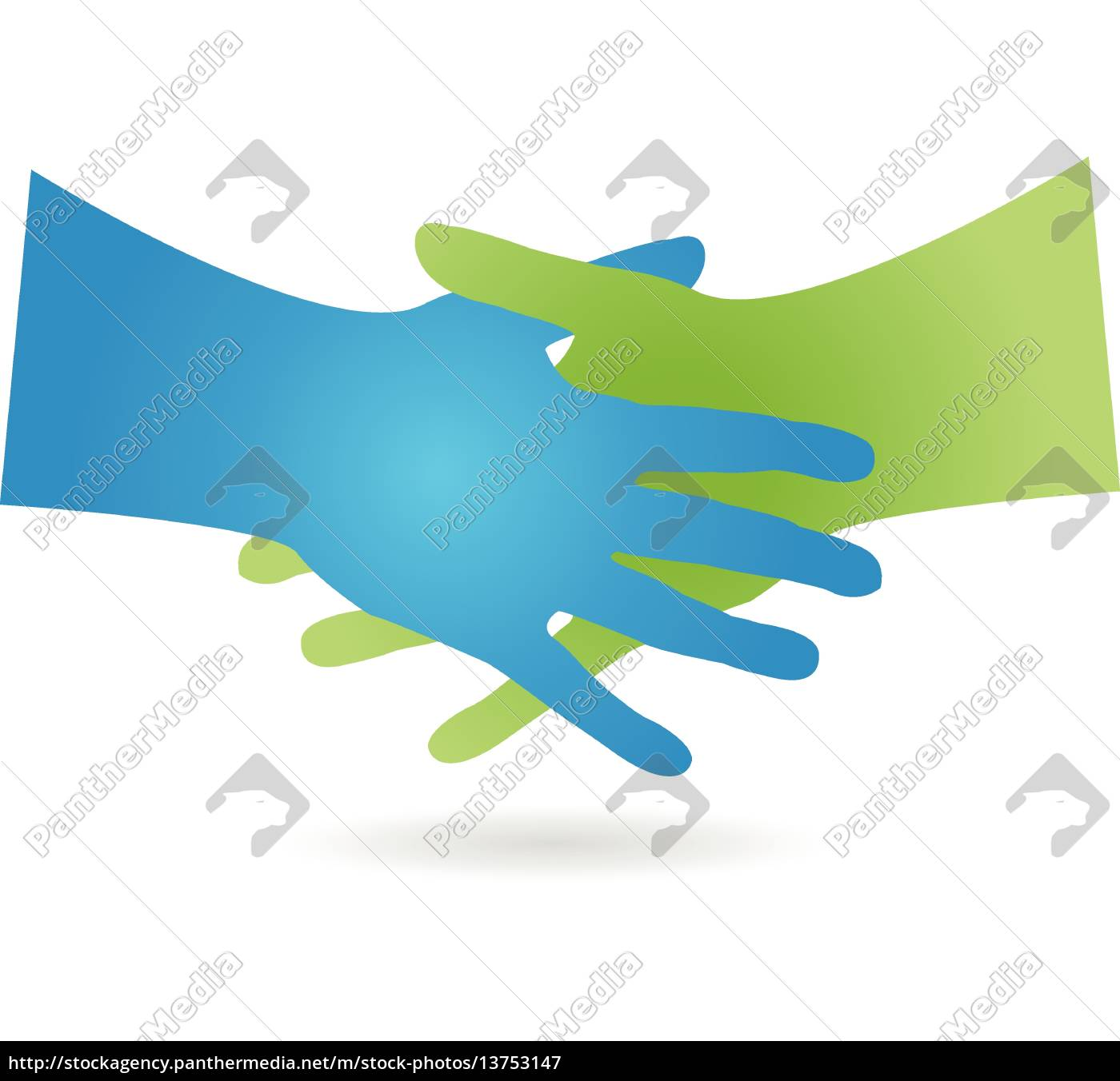 logo, handshake, two, hands - 13753147