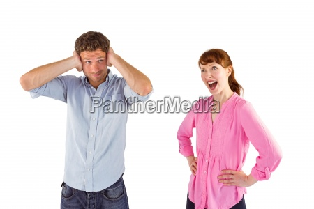 woman, arguing, with, ignoring, man - 13754493