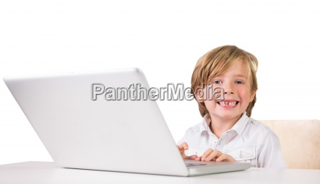 student using a laptop pc