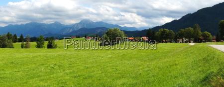 alpine panorama near pfronten