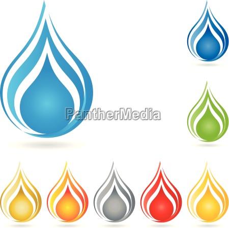 logo water drop drop water