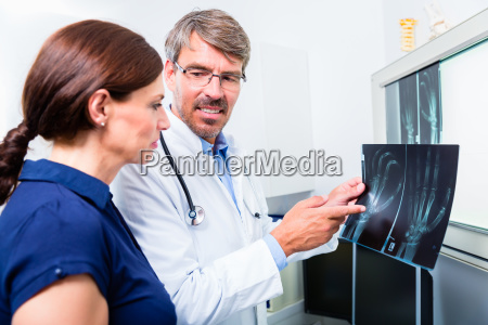 doctor with x ray image of