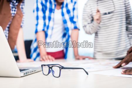 advertising agency team in creative meeting