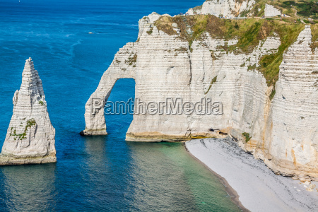 the famous cliffs at etretat in