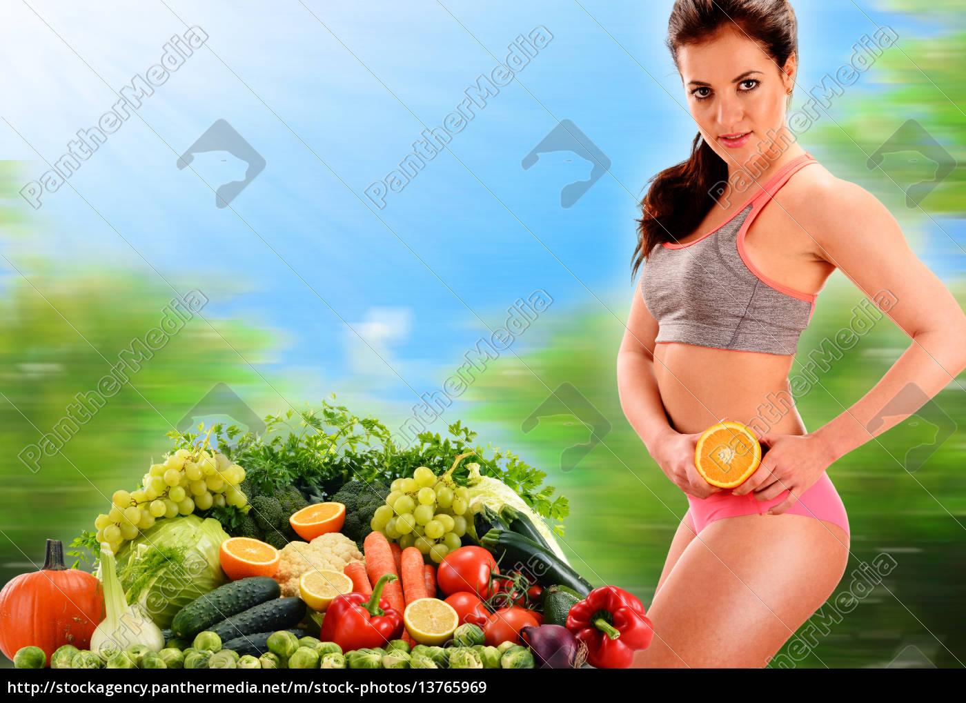 balanced, diet, based, on, raw, organic - 13765969