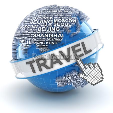 global travel 3d render