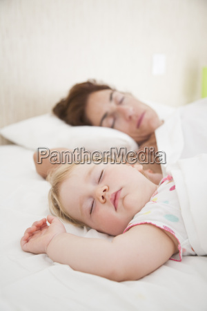 baby and mom dreaming together
