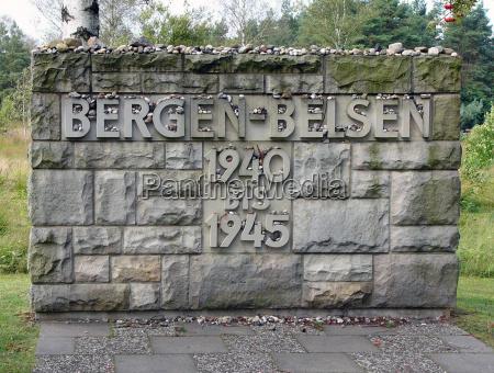entrance bergen belsen memorial