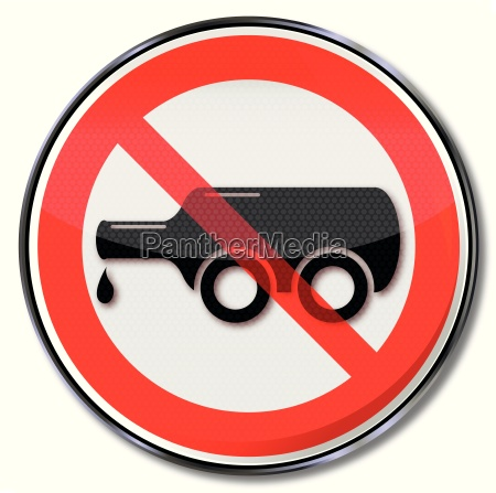 prohibition sign for drink driving and