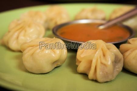 nepalese traditional dumpling momos dimsum