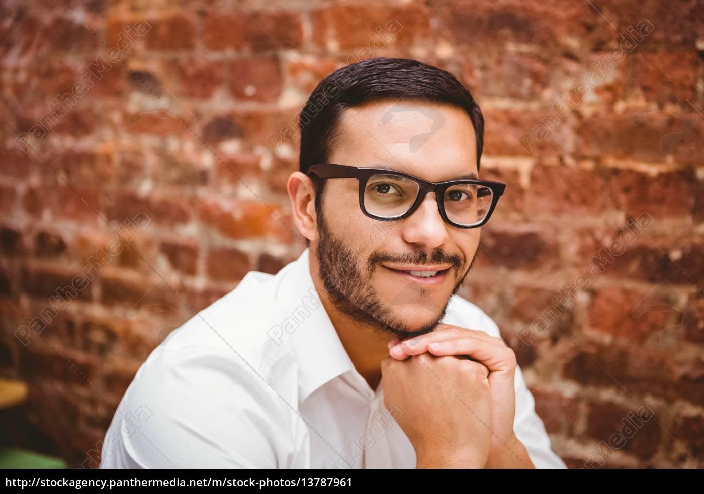 close, up, portrait, of, smiling, businessman - 13787961