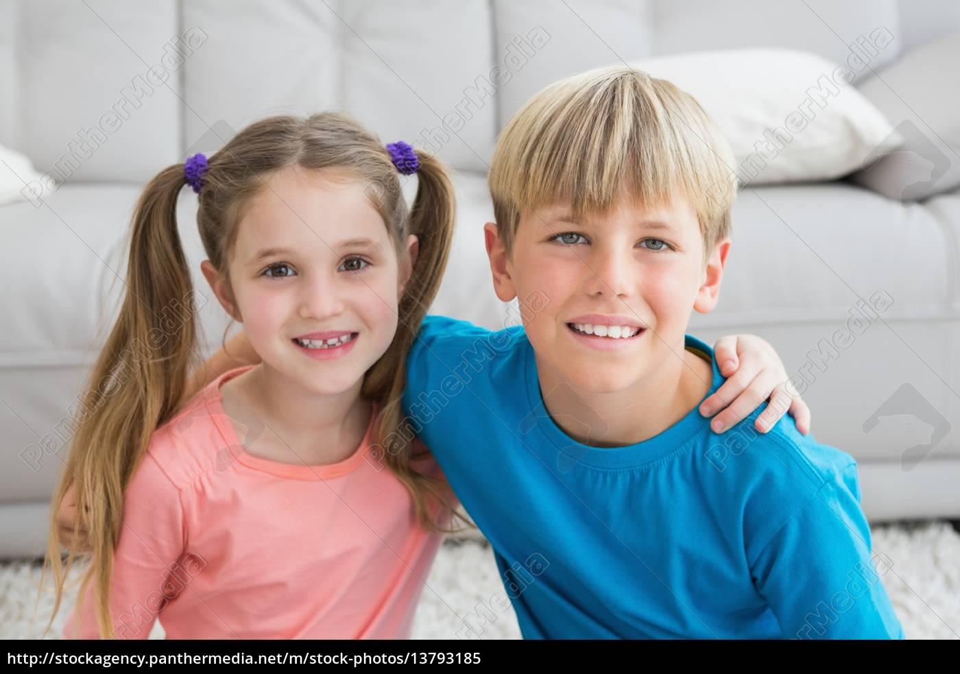 happy, siblings, smiling, at, camera, together - 13793185