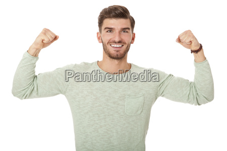 handsome young man attractive in leisure