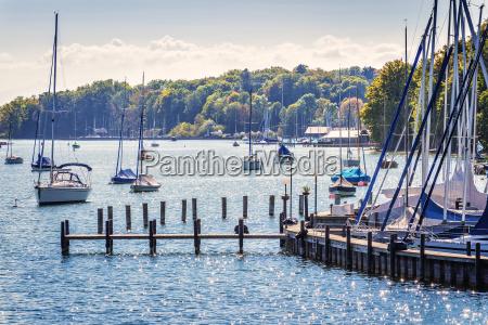 sailboats on lake starnberg