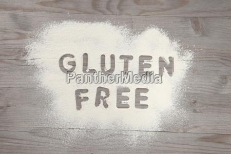word gluten free written in white