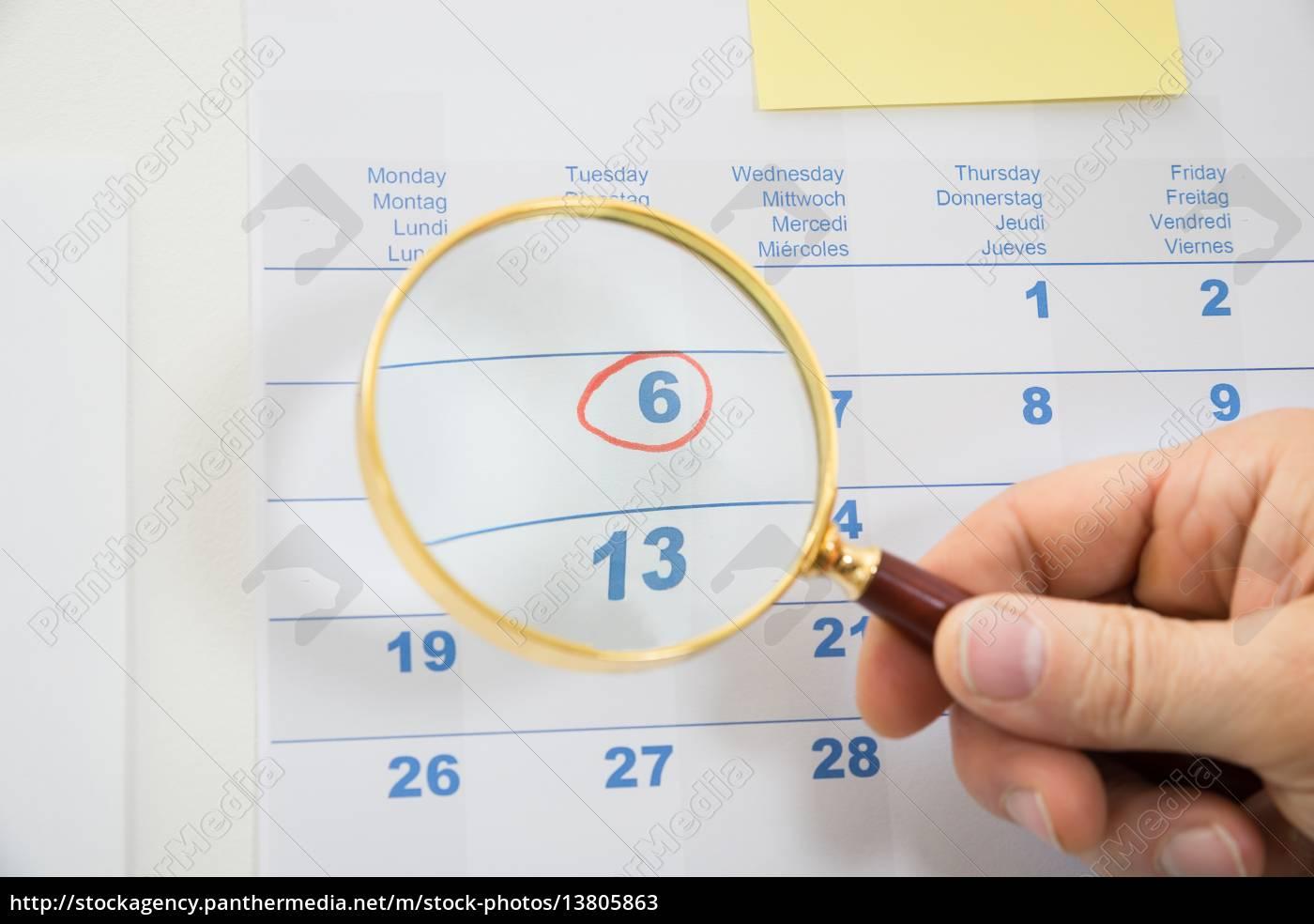 date, seen, through, magnifying, glass - 13805863